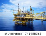 offshore platform of the in sea ... | Shutterstock . vector #741458368