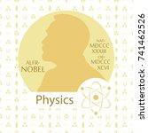 stylized nobel medal.... | Shutterstock .eps vector #741462526