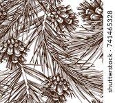 Vintage Pine Tree Illustration...