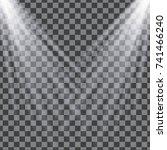 vector isolated spotlight.... | Shutterstock .eps vector #741466240