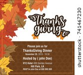 vector banners of thanksgiving... | Shutterstock .eps vector #741467230