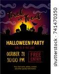 halloween party banner | Shutterstock .eps vector #741470350