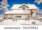 3d rendering of modern cozy... | Shutterstock . vector #741470923