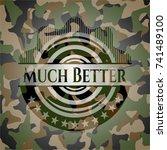 much better on camo texture | Shutterstock .eps vector #741489100