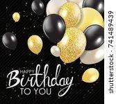 abstract happy birthday... | Shutterstock .eps vector #741489439
