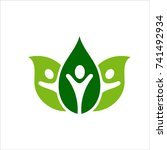 natural health care logo | Shutterstock .eps vector #741492934