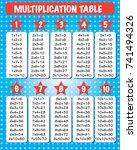 multiplication table   between... | Shutterstock .eps vector #741494326