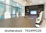 office chairs. office workplace.... | Shutterstock . vector #741499120