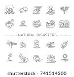 natural disaster  vector... | Shutterstock .eps vector #741514300