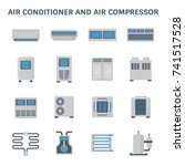 vector icon of air conditioner... | Shutterstock .eps vector #741517528