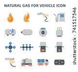 Natural Gas Vector Icon....
