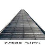 wooden bridge isolated on white ...   Shutterstock . vector #741519448