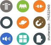 origami corner style icon set   ... | Shutterstock .eps vector #741522400