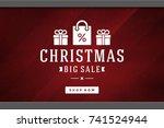 christmas sale sticker label...   Shutterstock .eps vector #741524944