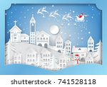 winter season with snowflake ... | Shutterstock .eps vector #741528118