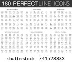 180 modern thin line icons set... | Shutterstock .eps vector #741528883
