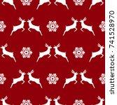 seamless pattern  christmas... | Shutterstock .eps vector #741528970