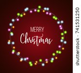 christmas and new year light... | Shutterstock .eps vector #741531250