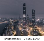 aerial view of skyscrapers at... | Shutterstock . vector #741531640