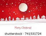 paper cut out and craft winter... | Shutterstock .eps vector #741531724