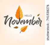 hello november  vector... | Shutterstock .eps vector #741538276
