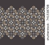 ethnic boho seamless pattern.... | Shutterstock .eps vector #741538708