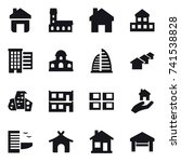 16 vector icon set   home ... | Shutterstock .eps vector #741538828
