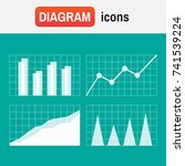 data analysis signs and... | Shutterstock .eps vector #741539224