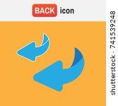 bounce back. flip over or turn... | Shutterstock .eps vector #741539248