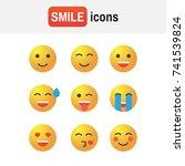 emoticon vector set. emoticon... | Shutterstock .eps vector #741539824