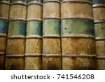 antique law books in a library | Shutterstock . vector #741546208
