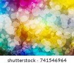multicolor circular shape ... | Shutterstock . vector #741546964