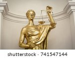 antique themis  lady justice ... | Shutterstock . vector #741547144