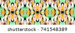 colorful horizontal... | Shutterstock . vector #741548389