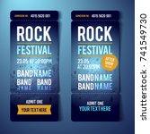 vector rock festival ticket...   Shutterstock .eps vector #741549730