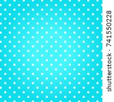blue background with white dots....   Shutterstock .eps vector #741550228