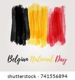 holiday background  for belgian ... | Shutterstock .eps vector #741556894