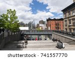 clouds cover the people at 10th ... | Shutterstock . vector #741557770