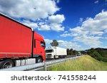 truck transportation | Shutterstock . vector #741558244