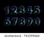 3d number design | Shutterstock .eps vector #741559660