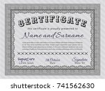 grey sample diploma. with... | Shutterstock .eps vector #741562630