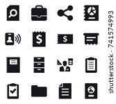 16 vector icon set   search... | Shutterstock .eps vector #741574993