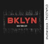 brooklyn t shirt and apparel...   Shutterstock .eps vector #741576913