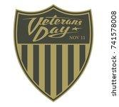 veterans day. calligraphic logo ...