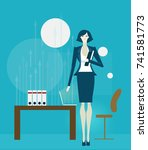 business woman  personal... | Shutterstock .eps vector #741581773
