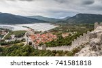 part of the walls of ston   the ...   Shutterstock . vector #741581818