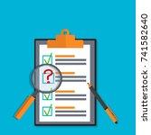 exam test results paper sheet... | Shutterstock .eps vector #741582640