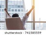 work achievement in business... | Shutterstock . vector #741585559