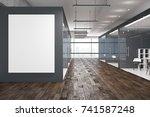 side view of modern office... | Shutterstock . vector #741587248
