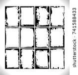 black grunge frames collection. ... | Shutterstock .eps vector #741588433
